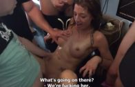 Czech girl was fucked hard by 8 different men