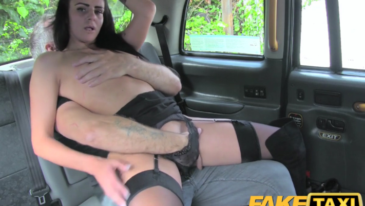 image Fake taxi sexy hot lesbian threesome in london cum stained cab