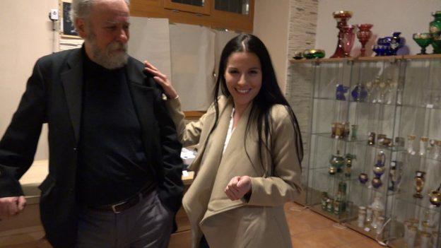 Grandpa Fucks Two Czech Twins