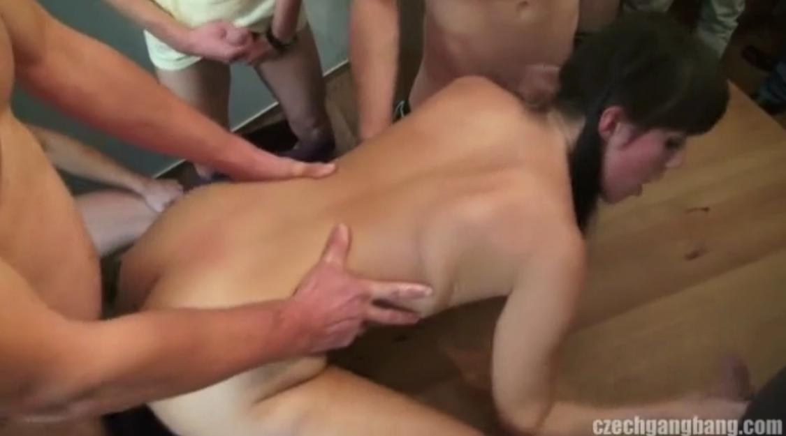 That interrupt Gang bang sex mini clip