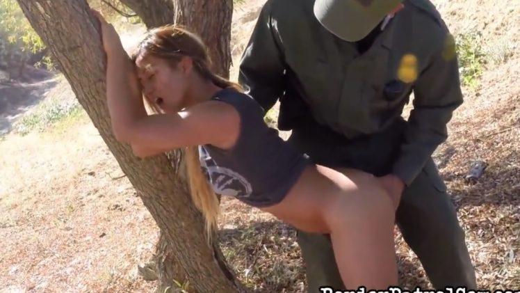 Border Patrol Sex – Lana Sucks Cop Cock HD