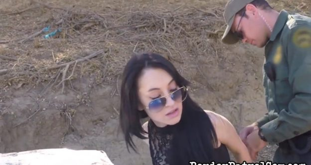 Russian Babe Gets Fucked By Border Patrol Agent