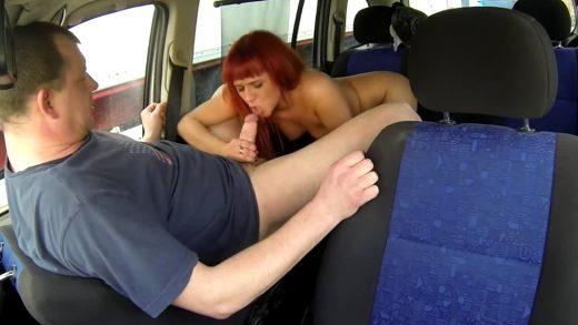 Czech-Bitch-5-Red-Hair-Slut-Sucked-Dick-In-Van