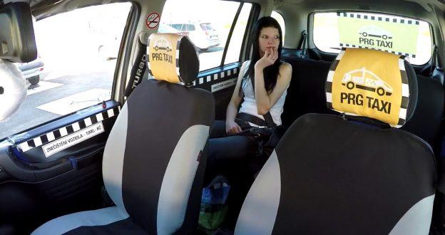 Czech taxi anal