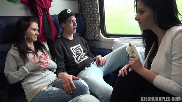Hot Couple Have Hard Fuck On Train