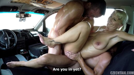 Fake taxi blonde milf gets surprise anal sex and rims 10