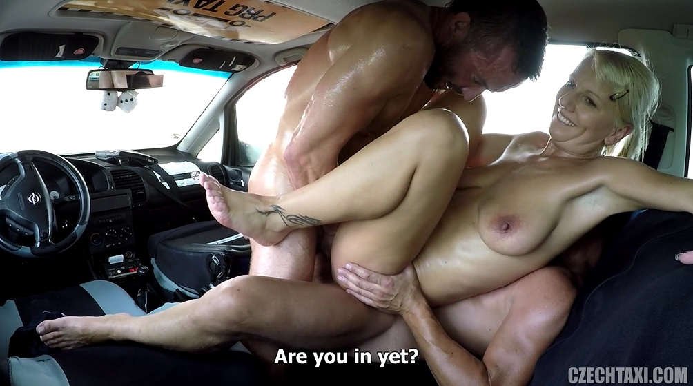 Fake taxi blonde milf gets surprise anal sex and rims 5