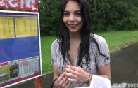 Czech Streets E97 – Sweet Black Haired Teen Fucks On Rain