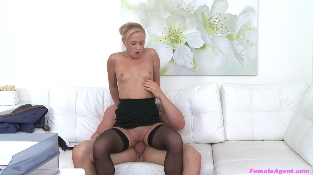 Femaleagent blonde horny agent sucks and fucks studs cock 5