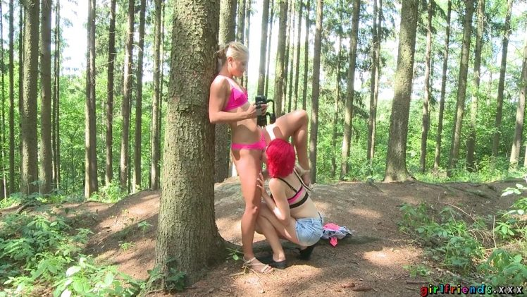 Girlfriends – Anne Swix And Cristin Caitlin – Lesbian Outdoor Pussy Eating