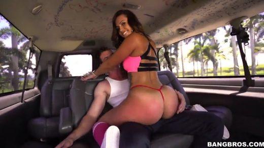 Latina Have Fun Sex In English Bus.