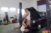 FemaleFakeTaxi – Vanessa V Fucking In Car Workshop