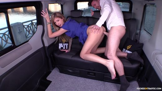 Blonde Cunt Gets Fucked In Traffic.