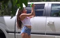 Pervs On Patrol – Latina Zaya Cassidy Wash Car