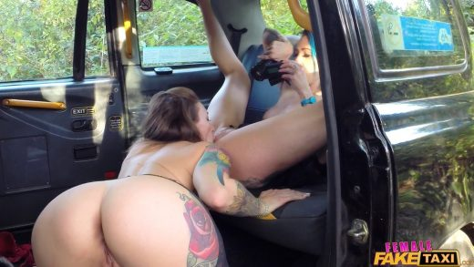 Petite Lesbians Have Sex In Fake Taxi.