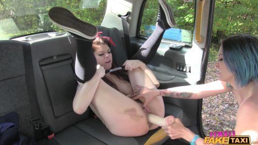 Lesbian Love On Back Seats.