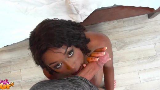 Black Girlfriend Gives Perfect Blowjob.