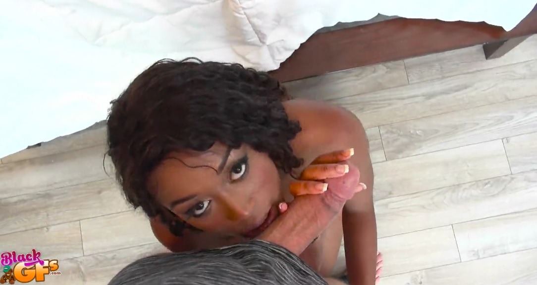 Black Girlfriend Gives Perfect Blowjob.