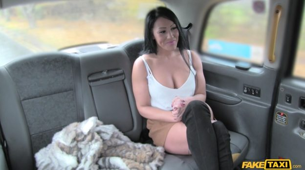 Big Tities Brunette Wants Try Taxi Driver's Dick.