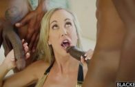 Blacked – Blonde Chick Brandi And Two Black Cocks
