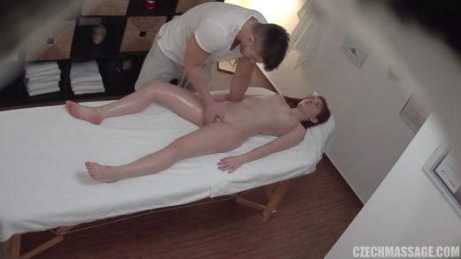 Young Petite Brunette Gets Pussy Penetration.