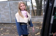 TakeVan – Blonde Hottie Cornelia Lorenzini Screw In Backseat