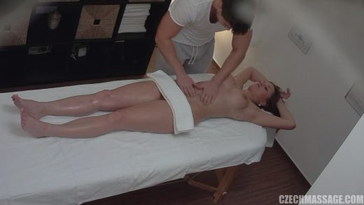 Horny Bitch On Massage Desk.