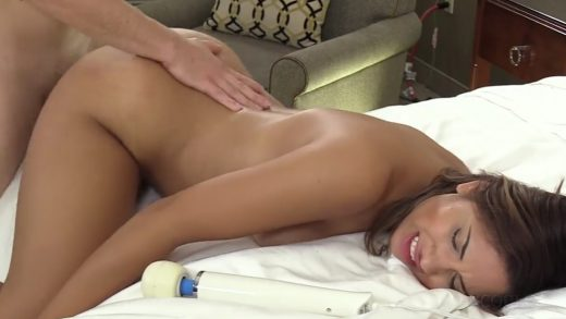 Little Slut Gets First Anal On American Casting.