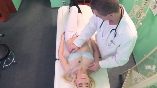 Young Doctor Blackmail Sexy Blonde Girl.