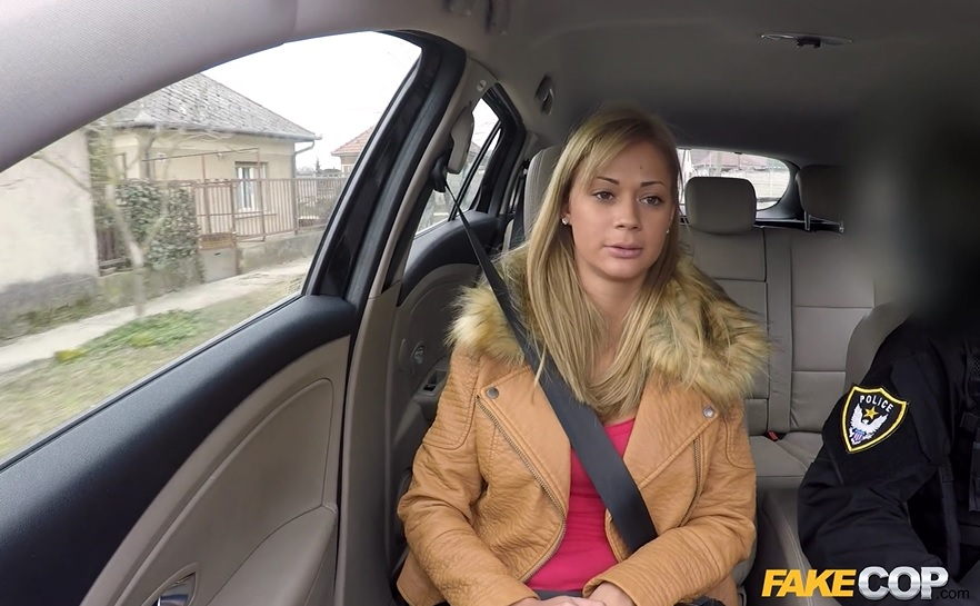 Cute Babe Has Sex In Cop Car.