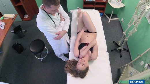 Slut Plays With Doctor's Bally And Squirt On Table.