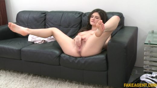 Hot Italian Slut Masturbate And Squirt On Fake Agent Couch.