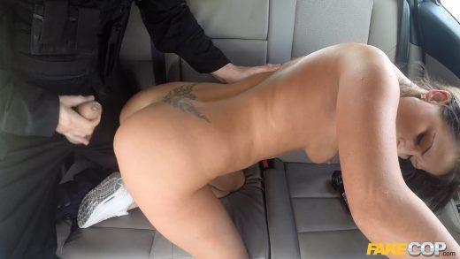 Slut Fucks in Police Car.