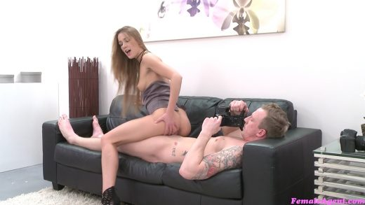 Czech Babe With Perky Tits Ride's Cock On Casting Couch.