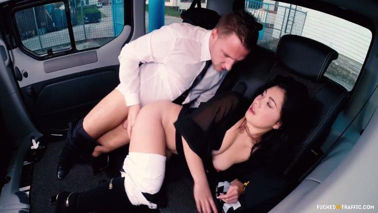 Fucked In Traffic – Czech Babe Enjoys a Kinky Fuck Session in the Car
