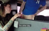 Female Fake Taxi – Angel Piaff – Tourist Pays Taxi Fare with Cum