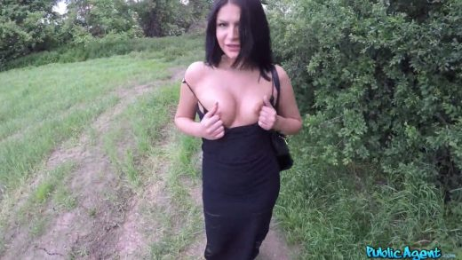Slut With Beautiful Boobs Fucked In Woods.