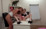 Female Agent – Interview climaxes in lesbian sex