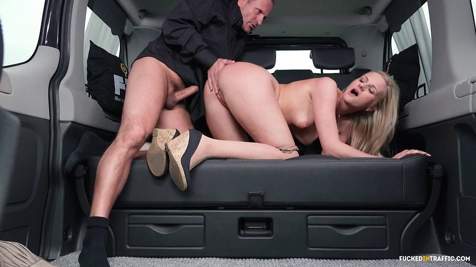 Fuckedintraffic czech babe gets cum covered in car sex 3