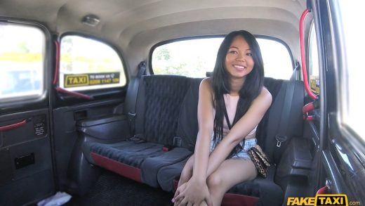 Fake taxi skipping college for backseat sex in taxi 8