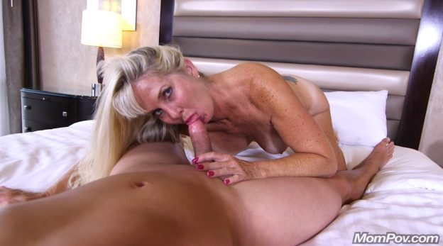 Mature Lady Rides Huge Cock.