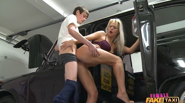 Fake taxi busted by police and milf big 4