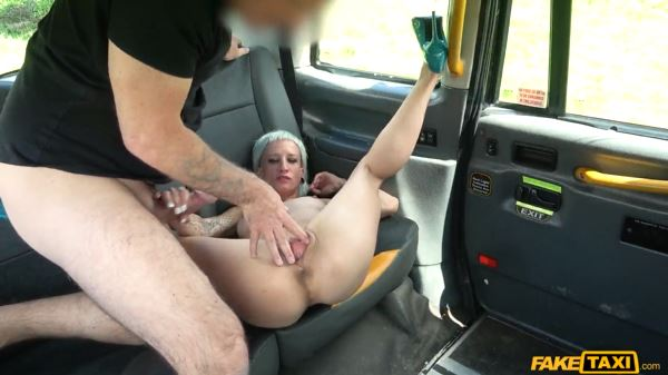 Short Haired Babe Loves Fake Taxi Driver.
