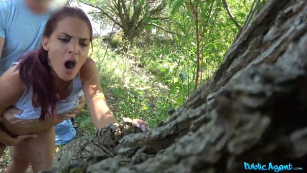 Hungarian Hottie Fucks In Woodland.