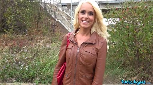 Cute Blonde MILF Loves Public Agent Dick.
