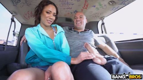 Hot Ebony Play With Big Cock In Bangbus.