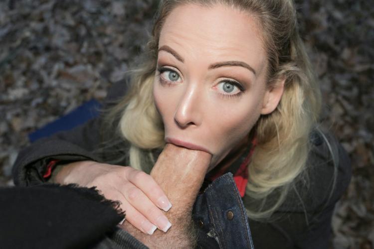 Public Agent Blonde Outside